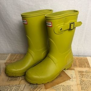 Hunter citron yellow short boots